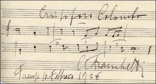 Autografo di Alberto