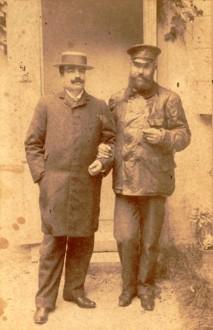 Alberto col fratello Edoardo a S. Trovaso (TV) nel 1905