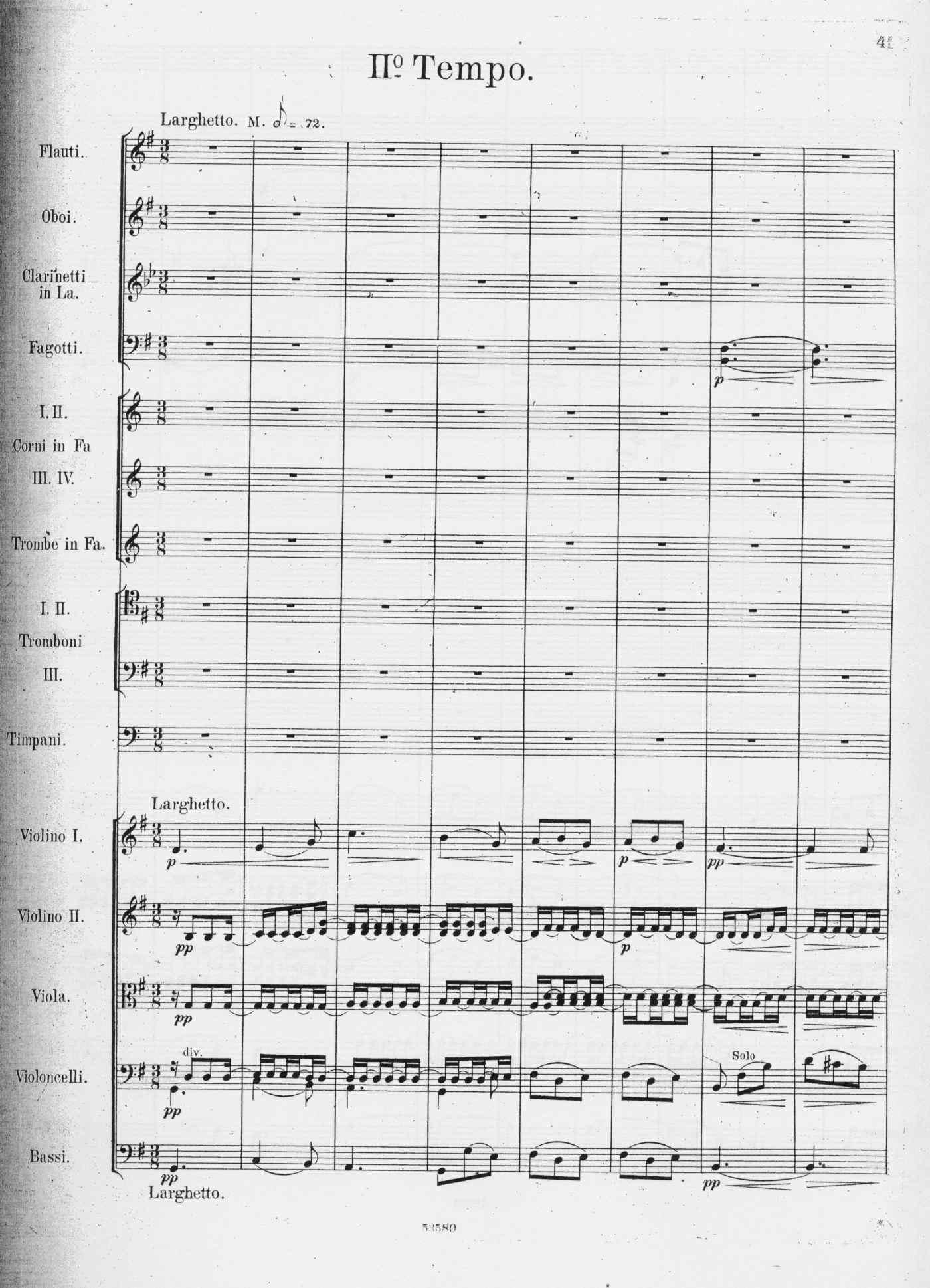 Alberto Franchetti, Sinfonia - II tempo