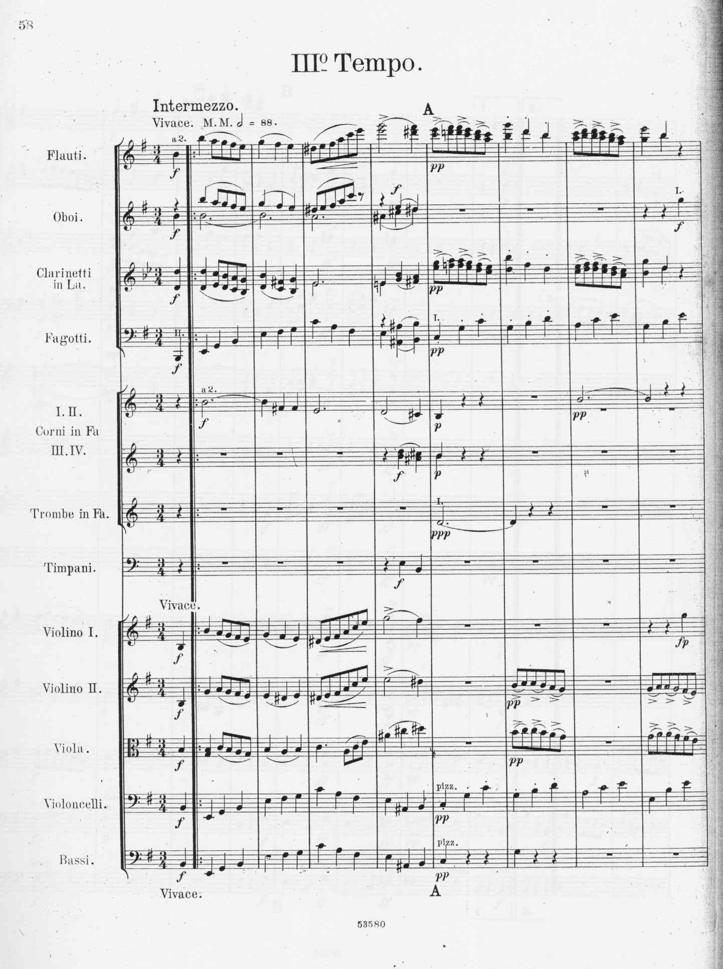 Alberto Franchetti, Sinfonia - III tempo