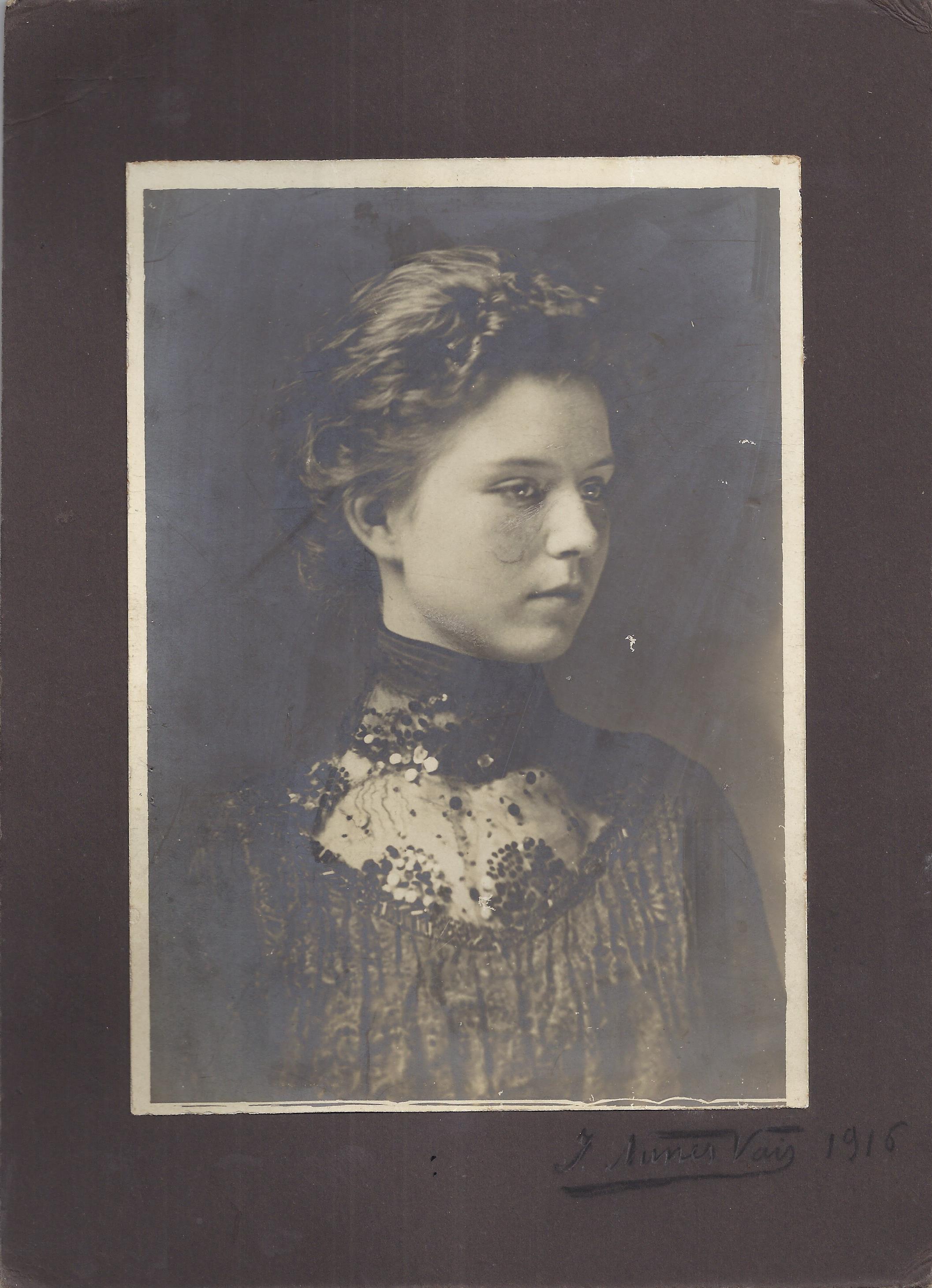 Clara Marini, seconda moglie di Alberto Franchetti (1916)