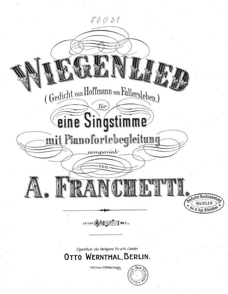 Franchetti_Wiegenlied
